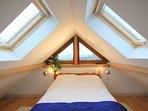 Mezzanine sleeping area with slightly restricted headroom