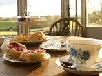Afternoon tea with stunning views