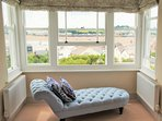Luxurious super-king-size bedroom boasting stunning views