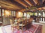 Beautiful oak beamed dining room