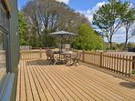 Relax on the private decking area with far reaching countryside views