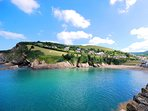 Combe Martin beach, a short walk from the property