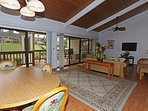 Dinning and Living Areas with Lanai