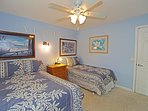 Guest Bedroom with Full and Twin Beds