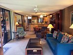 Living Area Opens on Two Sides to Lanai