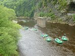 Rafting on the Lehigh River at Glen Onoko Access, Lehigh Gorge State Park