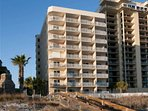 Four Winds condominiums from the beach