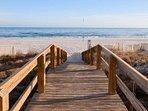 Boardwalk to beach and Gulf
