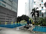 Swimming pool with KLCC view.