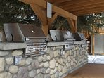 Grill up a tasty meal on the lovely BBQs!