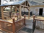 Relax on the hammock under the pavilion next to the Tiny House