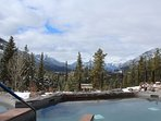 Take in the breathtaking mountain views from this incredible hot pools!