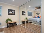 Two queen bedroom also includes a spacious mirrored closet.