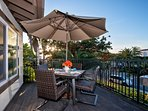 Grill and dine outdoors in the San Clemente sunshine.