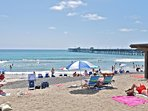 Or just lay down and enjoy the sun and the sand in San Clemente