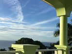 Sweeping views of the ocean and mountains from one of our balconies.