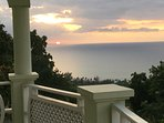 Gorgeous sunsets from one of our balconies.
