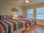 Drift off to dreamland in the bedroom with 2 full beds!