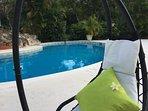 Poolside hammock time!