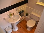 Ensuite with heated towel rail.