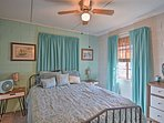 You're ensured a comfortable night on the queen bed in the first bedroom.
