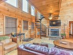 High ceilings add to the appeal of this cabin.