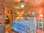 Doze off in this king-sized bed.