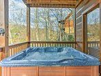 After a scenic hike, return home to soak in the hot tub.