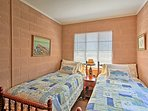 Stay comfortable and cozy in the 2 twin-sized beds.