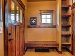 Inside the cabin, you'll find custom-built storage spaces throughout to help you stay organized.