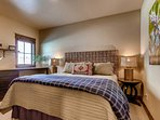 You'll feel right at home in this well-appointed master bedroom.
