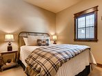 The queen bed in the second bedroom guarantees a good night's sleep!