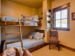 Find hints of 'Cozy Canoe Cabin's' moose mascot in all 3 bedrooms.
