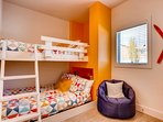 Whether it be on the twin-over-full bunk bed or the bean bag chair - the kids will have no trouble sleeping soundly in...