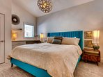 Sleep is sure to come easy in this plush king bed.