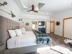 Enjoy a mounted TV in the Master Bedroom, which also has its own attached ensuite bathroom.