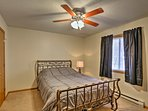 Enjoy peaceful slumbers on the queen bed in the first bedroom.
