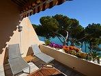 Terrasse aménagée  : 2 transats / 2 relax