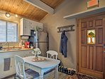 Enjoy your morning coffee at the quaint kitchen table with seating for 2.