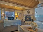 Rustic elegance runs throughout the home.