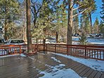 Revel in the serenity of the pines from the private 16' x 24' deck.