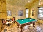 Slate Pool Table and Checker Table