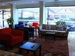 Cool & cozy lobby
