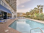 Take a dip in one the outdoor pools.