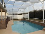 South facing pool. So you have sunshine in the pool and around the deck all day.