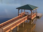 Camm's Lakeside Retreat - 240 Degree View Of Lake Wylie, 1 Acre Pier Gazebo