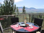 Enjoy  serene views, sample fresh local fruit and wine from the newly furnished top floor patio
