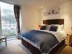Master en-suite bedroom. Both bedrooms can either be twins or doubles. Quality bed linen and towels