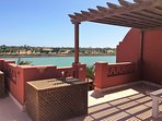 Roof Terrace and view to lagoon and El Gouna Golf