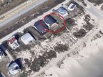 Beach location with private walkway to beach